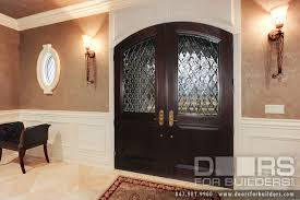 Interior Door With Transom Custom Solid Mahogany Wood Double Door With Transom With Clear