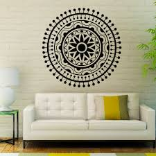 Wall Decals Vinyl Sticker Mandala by 2015 Mandala Om Yoga Flower Sign Wall Sticker Home Decor Wall Art