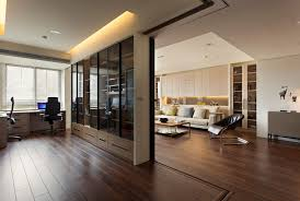 glass partition wall home design apartment with a retractable
