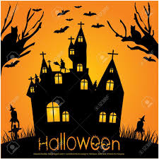 2 937 haunted house silhouette stock vector illustration and