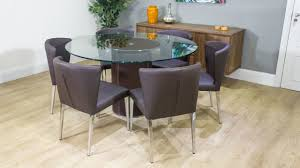 6 Seater Round Glass Dining Table Seater Round Glass Top Dining Table Set Matheson Nubica 6 Seater