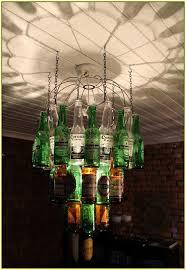 Glass Bottle Chandelier Beer Bottle Chandelier Kit Home Design Ideas