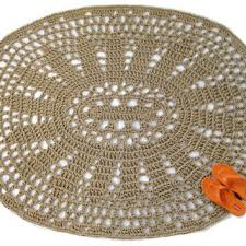 Oval Area Rugs Oval Area Rug Crochet Jute Rug From Exotiflora