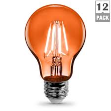 Colored Outdoor Light Bulbs Orange Indoor Outdoor Led Bulbs Light Bulbs The Home Depot
