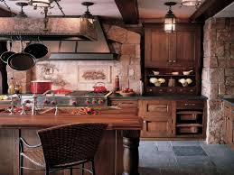 kitchen calm rustic kitchen decor with rectangle wood kitchen