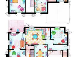 outstanding floor plan of the simpsons house images best idea
