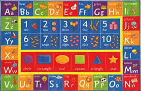 Abc Area Rug Kev Cooper Playtime Collection Abc Numbers And