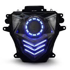 suzuki gsx r600 gsxr600 led hid projector headlight assembly 2011