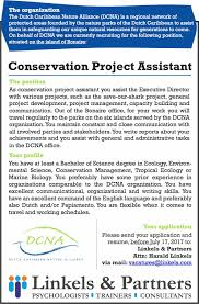 Recruiting Assistant Vacancy Conservation Project Assistant Bes Reporter
