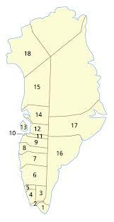 Greenland Map Greenland Municipalities Numbered U2022 Mapsof Net