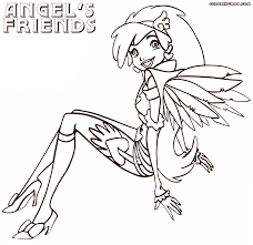 angels friends coloring pages coloring pages download print