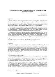 teachers u0027 attitudes and techniques towards efl writing in egyptian