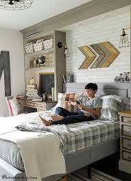 Boys Room Decor Ideas 03 Industrial Vintage Boy Bedroom With A Gorgeous Comfy Bed