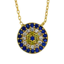blue cubic zirconia necklace images Evil eye necklaces jpg