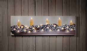 radiance flickering light canvas radiance lighted canvas white christmas candles on mantle canvases