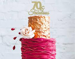 70th birthday cake etsy