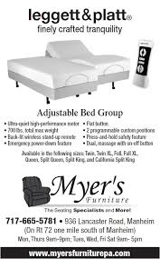 adjustable beds by leggett and platt at myer u0027s myers furniture