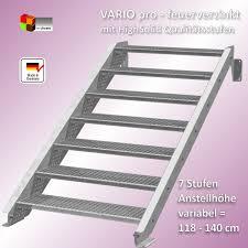 bausatz treppe stahltreppe 7 stufen vario pro 600 feuerverzinkt bausatztreppe