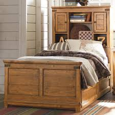 Full Beds With Storage Twin Bookcase Bed With Underbed Trundle Or Storage Drawer Unit By