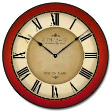 galway red clock large wall clocks home decor many sizes