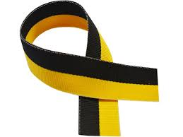 black and yellow ribbon black yellow medal ribbon 76 cm 30