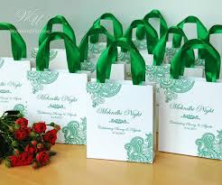 ribbon with names 35 mehndi gift bags with satin ribbon names personalized
