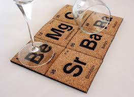 Periodic Table Coffee Table Handmade Periodic Table Coaster Set Gadgetsin