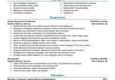 unbelievable human resource resume samples 7 amazing resources
