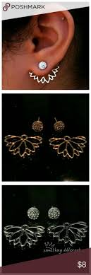 gold back earrings best 25 front back earrings ideas on jacket earrings