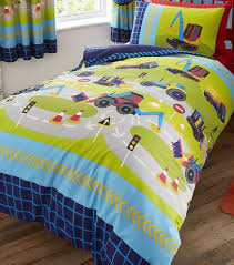 Toy Story Single Duvet Set Trucks Diggers And Road Works Single Duvet Cover