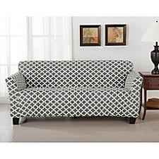 sofa cover great bay home brenna strapless sofa slipcover bed bath beyond