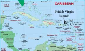 map of the bvi map of the caribbean region showing the location of the