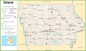 State Capitol Map by Iowa Highway Map