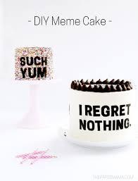 diy meme cakes with free printables