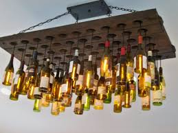 Unique Ceiling Light Fixtures Kitchen Unique Ceiling Light Made From Recicled Wine Bottles