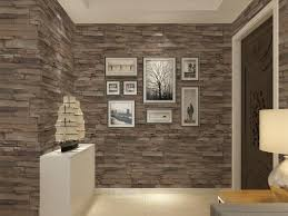 vinyl textured embossed brick wall wallpaper modern 3d stone