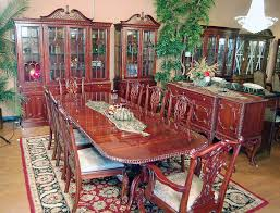 Mahogany Dining Room Furniture 11pc Mahogany Dining Room Set Chippendale China Buffet Ebay