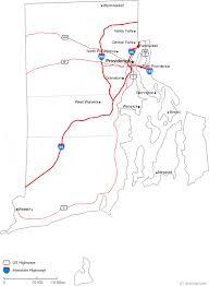 map rhode island map of rhode island