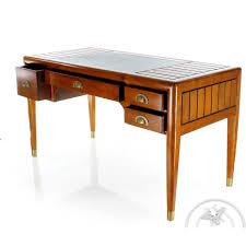 table bureau bois bureau bois massif dessus cuir l140cm la pérouse saulaie