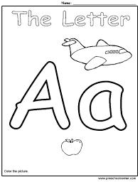 letter a worksheet worksheets