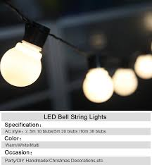 outdoor cing lights string led fairy lights decoration ball light string outdoor christmas