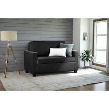 Twin Size Sofa Beds by Dorel Casey Twin Size Black Faux Leather Sleeper Sofa 2150009