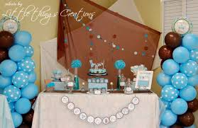airplane baby shower decorations brown and blue clothes and airplane baby shower party ideas