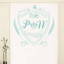 wedding backdrop personalized 4 x 10 ft regal monogram crest personalized photo backdrop