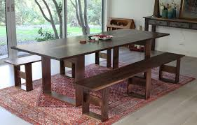 Blue Wood Kitchen Table With Bench Seating Kitchen Table With