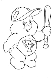 care bears baseball bat care bears coloring pages