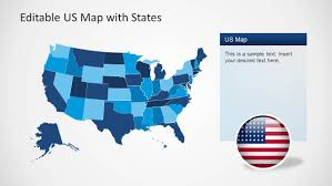 Map States by Us Map Template For Powerpoint With Editable States Slidemodel