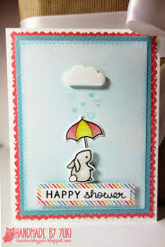 handmade by yuki lawn fawn baby shower card and gift tag