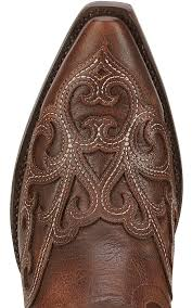 ariat rainey women u0027s washed maple with overlay snip toe western