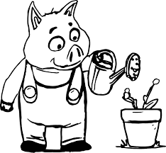 the 3 little pigs pig coloring page wecoloringpage